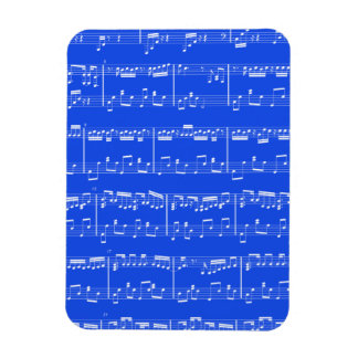 Royal Blue Sheet Music Flexible Magnet