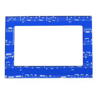 Royal Blue Sheet Music Magnetic Picture Frame