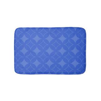 Royal blue shippo pattern bathroom mat