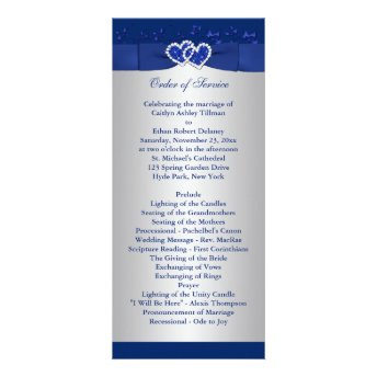 sweet sixteen program template - royal blue silver collections niteowl studio wedding
