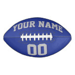 ROYAL BLUE SILVER GRAY AND NAVY Custom Football