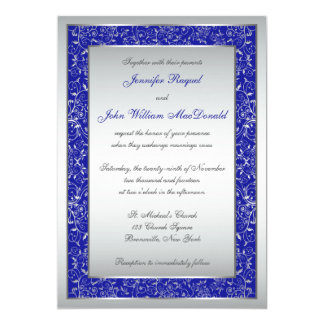 Blue White And Silver Wedding Invitations is best invitations example