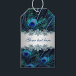 """Royal Blue Silver Peacock Wedding Gift Tags<br><div class=""""desc"""">Peacock wedding favor gift tags with beautiful royal blue peacock design and elegant silver band. You can add the text of your choice to the front and back sides of this beautiful royal blue and silver peacock gift tag in the font style of your choice. This is a printed design...</div>"""