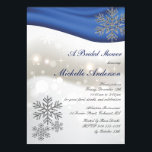 """Royal Blue Silver Snowflakes Bridal Shower Invitation<br><div class=""""desc"""">Elegant royal blue and silver snowflakes winter/Christmas winter wedding/ bridal shower or other celebration invites. Please personalize it occasion-accordingly or customize it further if you need to add text, change the layout, font, font color, font size... .etc. Please click """"customize it"""" button to get all the edit options. (Can easily...</div>"""