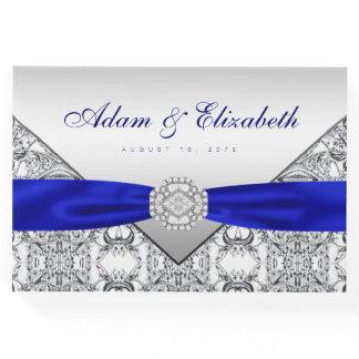 Royal Blue Silver Wedding Guest Book