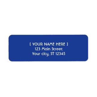 Royal Blue simple elegant Label