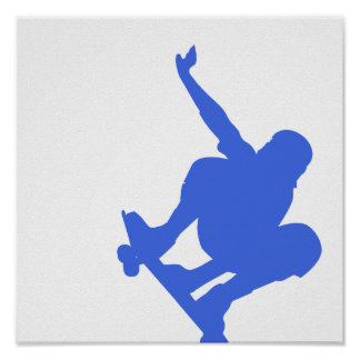 Royal Blue Skateboarding Posters