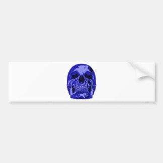 Royal Blue - Skull Car Bumper Sticker
