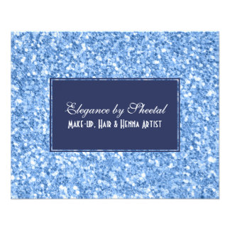 Royal Blue & Sky Blue Glitter Texture Flyer