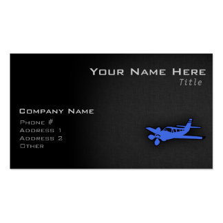 Royal Blue Small Plane Double-Sided Standard Business Cards (Pack Of 100)