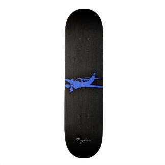 Royal Blue Small Plane Custom Skate Board
