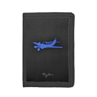 Royal Blue Small Plane Trifold Wallets