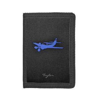 Royal Blue Small Plane Trifold Wallets