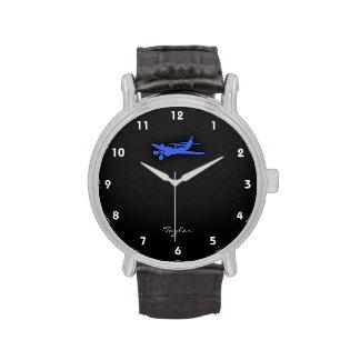Royal Blue Small Plane Wrist Watch