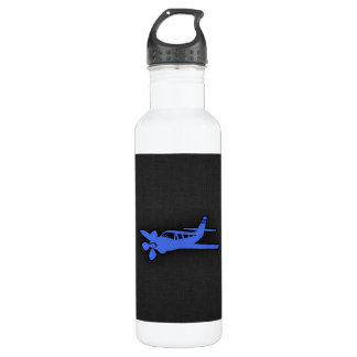 Royal Blue Small Plane Water Bottle