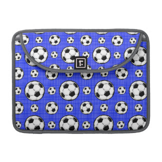 Royal Blue Soccer Ball Pattern MacBook Pro Sleeve