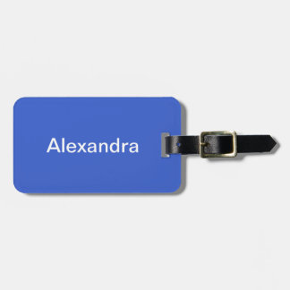 Royal Blue Solid Color Bag Tag