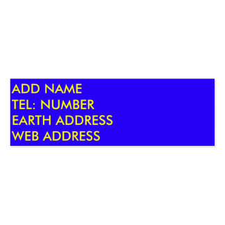 Royal Blue solid color business card