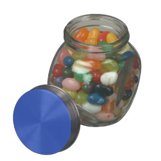 Royal Blue Solid Color Jelly Belly Candy Jar