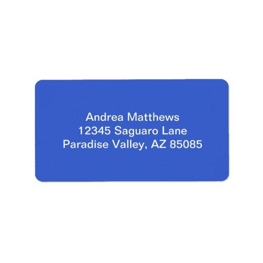 Royal Blue Solid Color Label