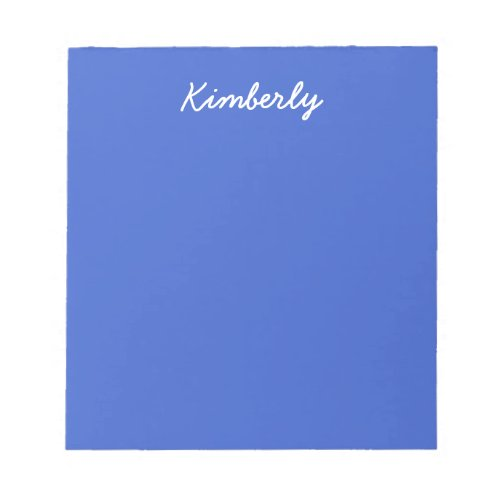 Royal Blue Solid Color Notepad