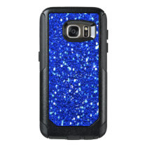 Royal Blue Sparkly Faux Glitter Look OtterBox Samsung Galaxy S7 Case
