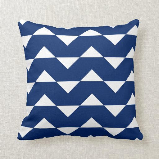 Royal blue sparre pattern throw pillow zazzle for Royal blue couch pillows