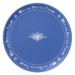 Royal Blue Special Day Tradition Family Birthday Party Plate