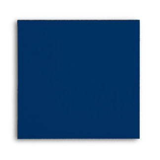 Royal Blue Square Scrollwork Monogram Envelopes