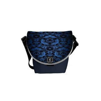 Royal Blue to Black Lace Fade Day Sac Messenger Bag