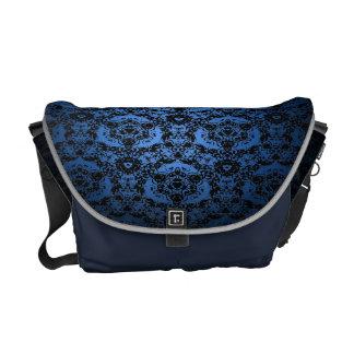 Royal Blue To Black Lace Fade Shoulder Bag