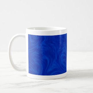 Royal Blue Tonal Abstract Swirled Background Coffee Mug