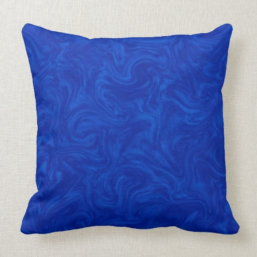 Royal blue tonal abstract swirled background throw pillow for Royal blue couch pillows