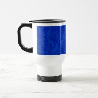 Royal Blue Tonal Abstract Swirled Background Travel Mug