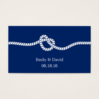 royal blue tying the knot wedding website insert
