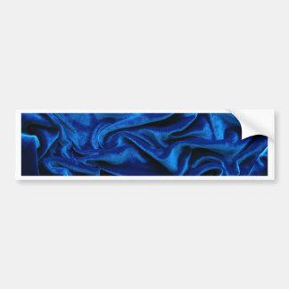 Royal blue velvet silk textile elegant chic bumper sticker
