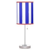 Royal Blue Vertical Stripe on ANY COLOR BACKGROUND Desk Lamp