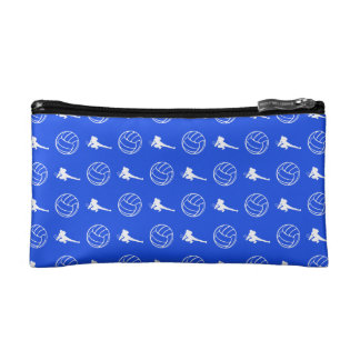 Royal Blue Volleyball Pattern Clutch