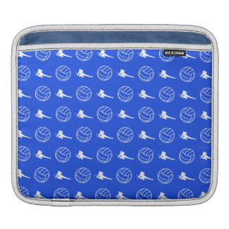 Royal Blue Volleyball Pattern iPad Sleeve