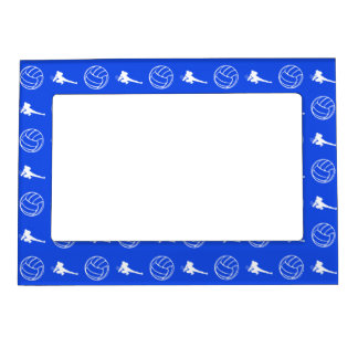 Royal Blue Volleyball Pattern Magnetic Picture Fra Magnetic Photo Frame