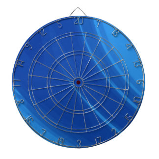 Royal Blue Waves Dartboard With Darts