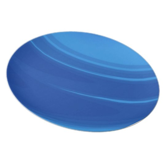 Royal Blue Waves Melamine Plate