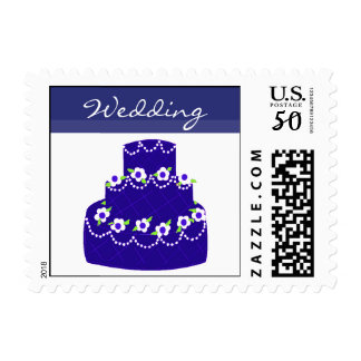 Royal Blue Wedding Cake Postage