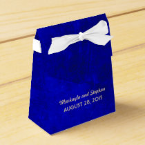 royal blue wedding favor box