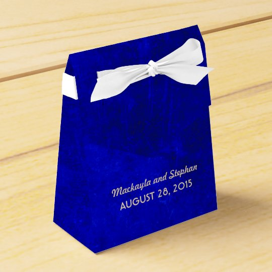 Royal Blue Wedding Favor Box