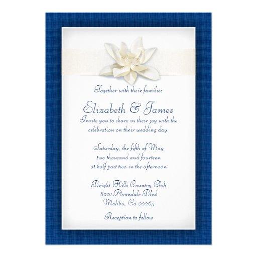Royal blue wedding invitations custom announcement zazzle for Buy wedding invitations in store