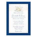 Royal Blue Wedding Invitations Custom Announcement