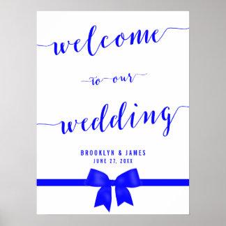 Royal Blue Wedding Reception Sign Print
