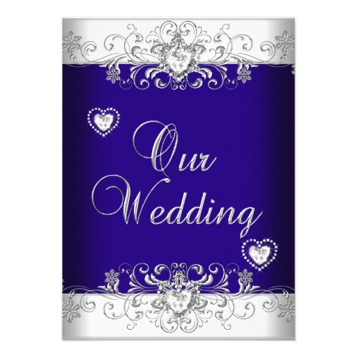 Royal Blue And Silver Wedding Invitations is an amazing ideas you had to choose for invitation design