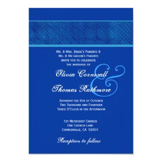 Royal Blue Wedding V561 Card